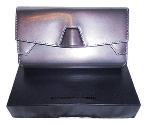 Alexander Wang Sophisticated Tri-fold Silver Clutch