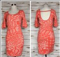 """Torn by Ronny Kobo Coral New Tribal Knit 'casey"""" Mid-length Short Casual Dress Size 4 (S) Torn by Ronny Kobo Coral New Tribal Knit 'casey"""" Mid-length Short Casual Dress Size 4 (S) Image 2"""