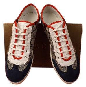 5b66f013a45 Gucci gray Athletic. Gucci Gray Men s Blue Gg Canvas Barcelona Lace Up  Sneakers ...