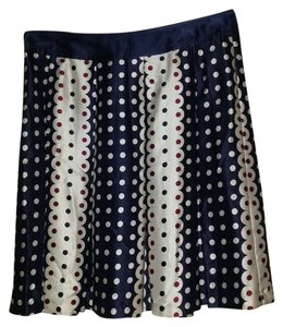 Modern Amusement Silk Polka Dot Scalloped Skirt