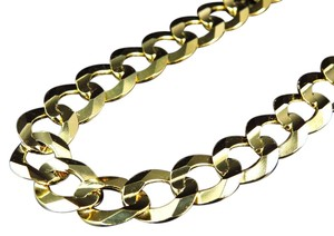 Jewelry Unlimited Real 10K Yellow Gold Chiseled Curb Cuban Link Style Chain Necklace 20-30