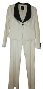 The Limited Limited Cream with Black Accents Pants Suit
