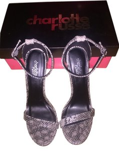 Charlotte Russe black and white Sandals