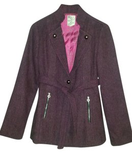 Tulle Military Plum Jacket
