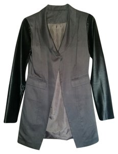 Tulle Faux Leather Gray/Black Jacket