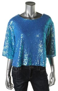 Lily White Top Turquoise