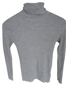 DKNY Turtleneck Ribbed Merino Wool Sweater