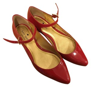 Kate Spade Pointed Toe Mary Jane Red Flats