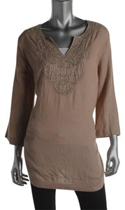 Charter Club New Linen Beaded Longsleeve Tunic