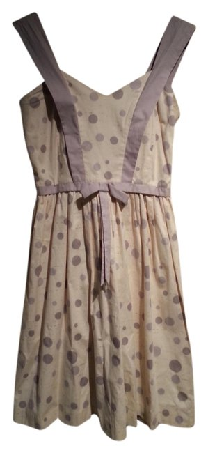 Betsey Johnson short dress Gray/Cream on Tradesy
