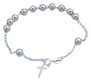 Other NEW CATHOLIC ITALY Sterling Silver ROSARY Bracelet UNISEX 6MM
