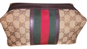 Gucci Gucci canvas large cosmetic case