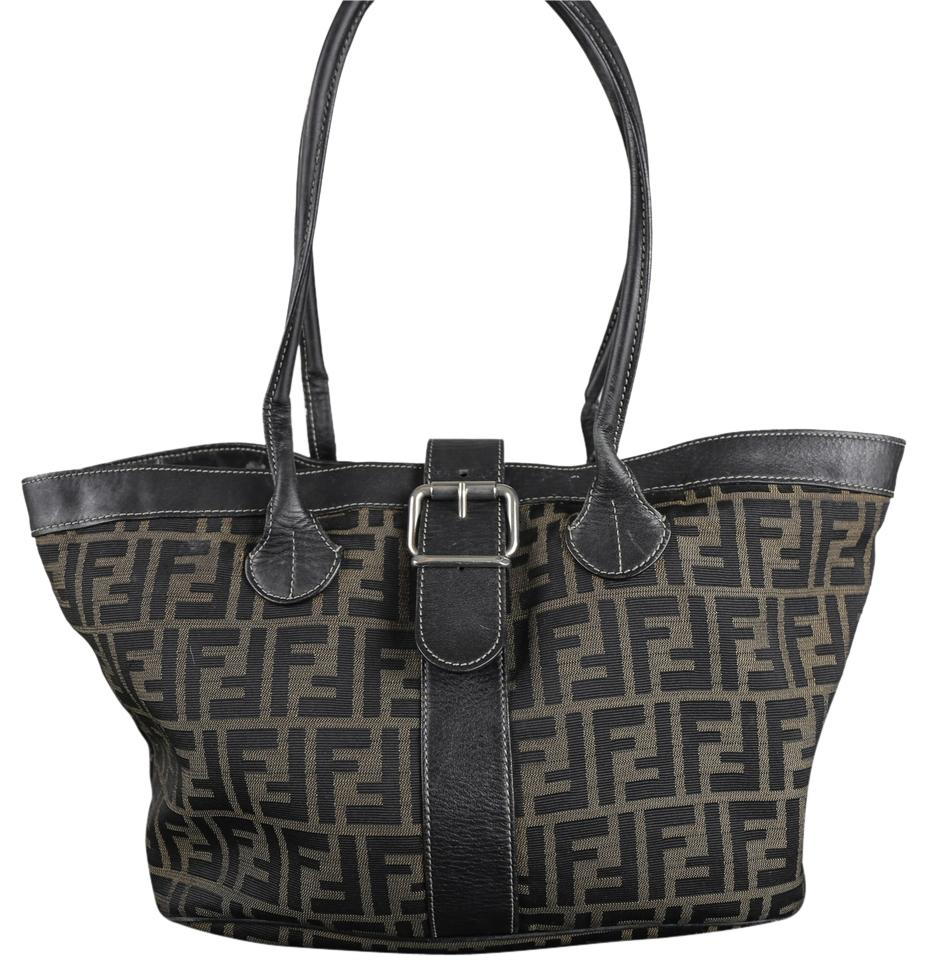 de66f2f12f52 Fendi   Zucca Brown Canvas + Leather Tote - Tradesy
