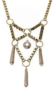 LOW LUV by Erin Wasson LOW LUV by Erin Wasson Faceted Metal Pendant Box Chain Necklace