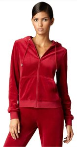 Magaschoni Velour Zip-up Hooded Sweatshirt