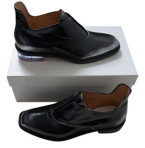 Maison Margiela Low Top Leather Oxford Loafers New In Box Black Flats