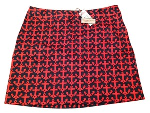 Vineyard Vines Mini Casual Party Summer Boat Mini Skirt navy, red