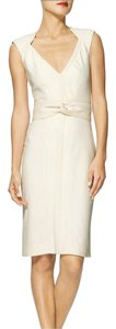 Zac Posen Wool White Cream Cocktail White Cocktail Cocktail Women's Cocktail In Apparel In In Clothing New Crepe Dress