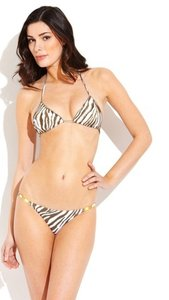 ViX Vix Swimwear brown 'Zebra Detail' bikini bottoms M