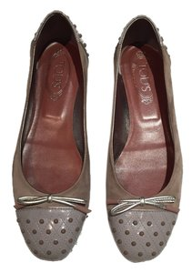 Tod's Suede Pink Taupe Flats