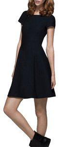 Theory Elex Scoop Back Flare A-line Dress