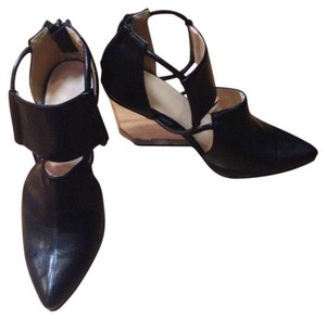 Other Lucite Plastic Cut-out Black Wedges