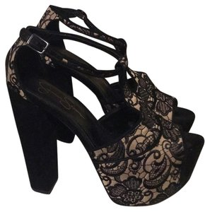 Jessica Simpson Black/Taupe Platforms