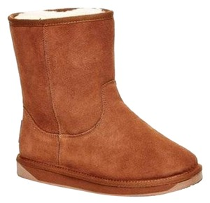 BooRoo Fur Australian Suede Leather - Light Brown Boots