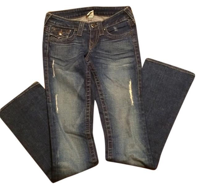 Item - Blue Distressed Disco Becky Boot Cut Jeans Size 25 (2, XS)