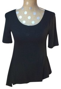 Anthropologie Pure+good Asymmetrical T Shirt black