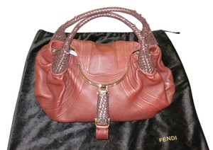 Fendi Nappa Leather Hobo Bag