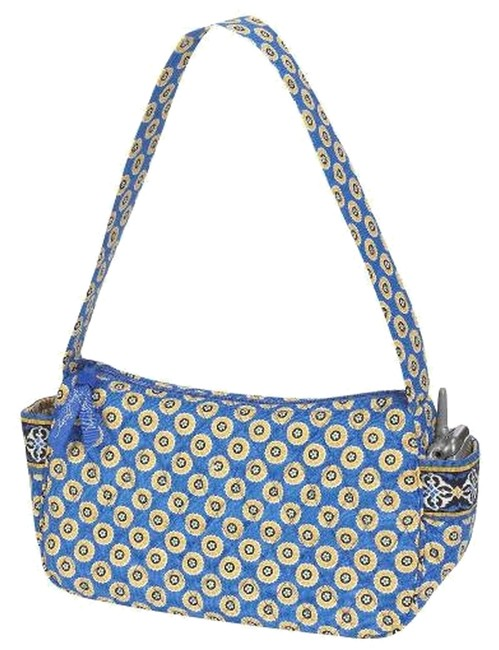 "Item - Riviera ""Maggie"" Purse Blue / Yellow Multi Cotton Baguette"