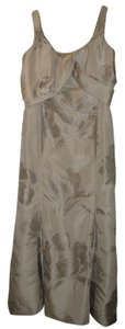 Carolina Herrera Long Gown Floral Silver Couture Halter Dress