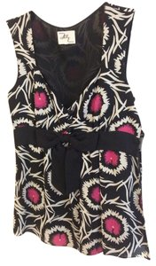 Milly Chanel Style Top Black White Pink
