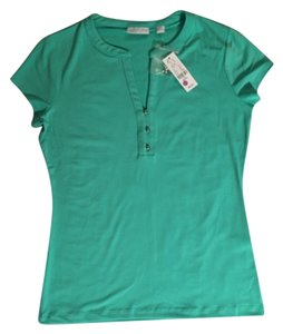 New York & Company T Shirt Fitted Top Mint Green