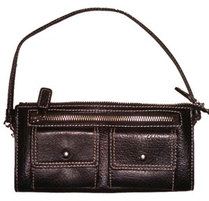 Nordstrom Leather Wristlet in Black
