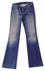 7 For All Mankind Denim Wash Boot Cut Jeans-Dark Rinse