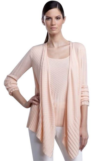 Preload https://item4.tradesy.com/images/st-john-sorbet-cashmere-ribbed-knit-cardigan-size-14-l-9635863-0-1.jpg?width=400&height=650