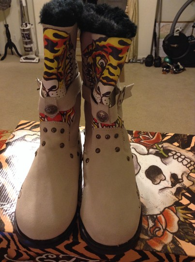 Ed Hardy White Boots