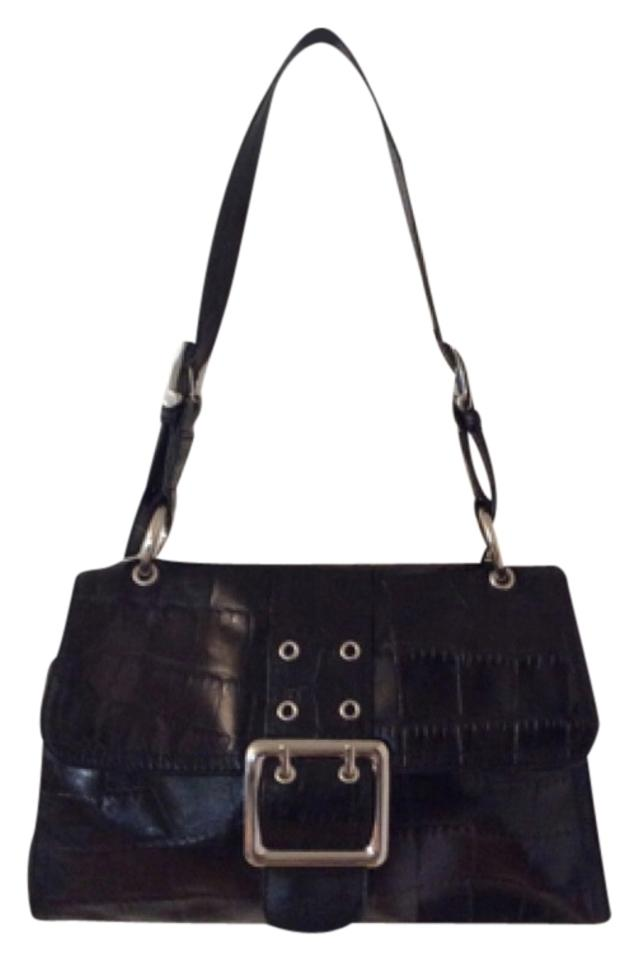 e145789ce85a Franco Sarto Black Leather Shoulder Bag - Tradesy