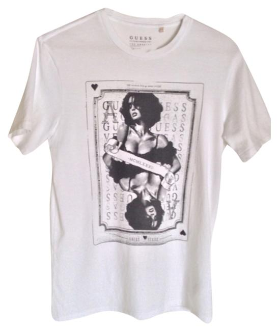 Preload https://item1.tradesy.com/images/guess-white-tee-shirt-size-6-s-9636985-0-1.jpg?width=400&height=650