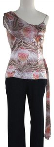 Diane von Furstenberg Dvf Silk Sash Printed Top Multicolored