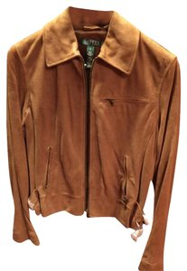 Ralph Lauren Suede Tan Gold New With Tags Montecito Leather Jacket