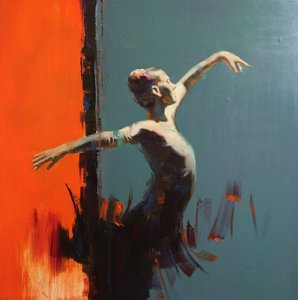 Fine Art Oil Painting Dancing Lady -