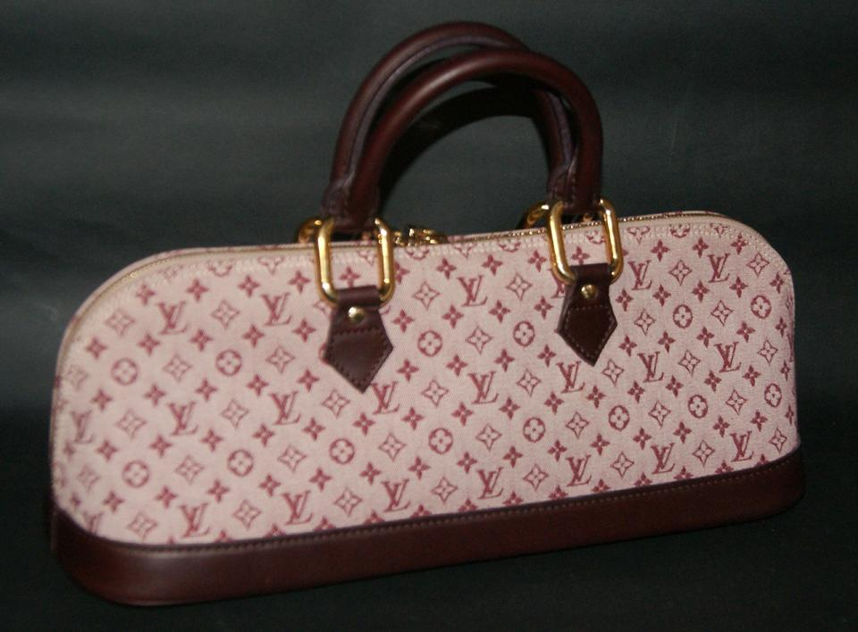 Louis Vuitton Alma Cherry Mini Monogram Long Handbag Plum Cloth Canvas with  Leather Trim Satchel - Tradesy 8d66e46a0ebf6
