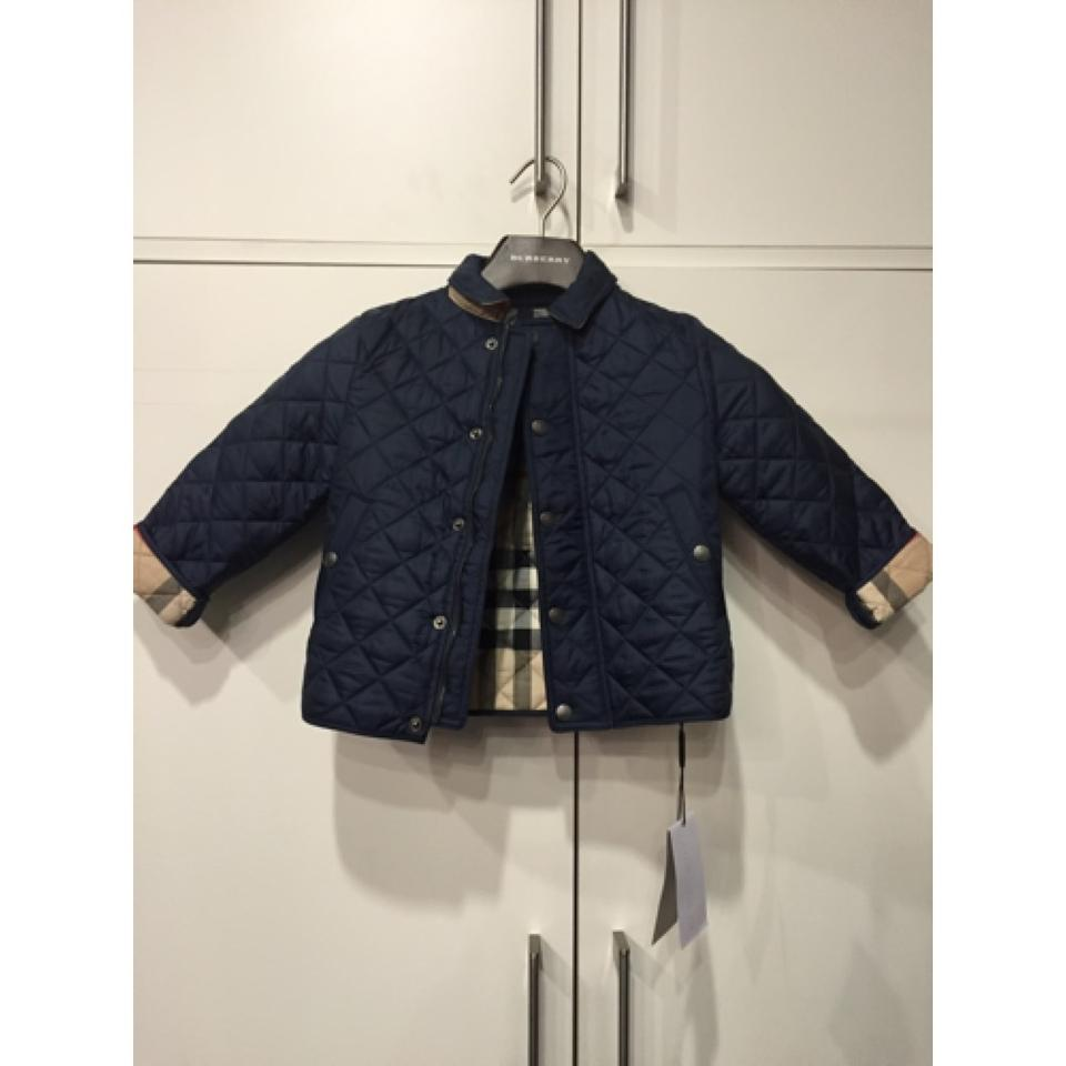 Burberry Navy Boys Luke Quilted Jacket Size 4 S Tradesy