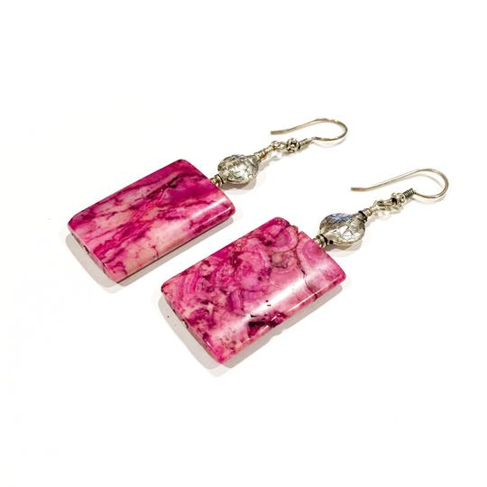 Preload https://item5.tradesy.com/images/fuchsia-ruby-crazy-lace-agate-and-sterling-silver-earrings-9638614-0-6.jpg?width=440&height=440