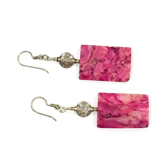 Gemme Del Mondo Gemme Del Mondo Ruby Crazy Lace Agate and Sterling Silver Earrings