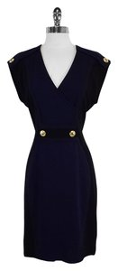 Yoana Baraschi short dress Navy Black Cap Sleeve on Tradesy