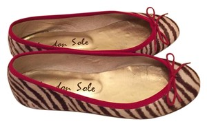 London Sole red, white, brown Flats